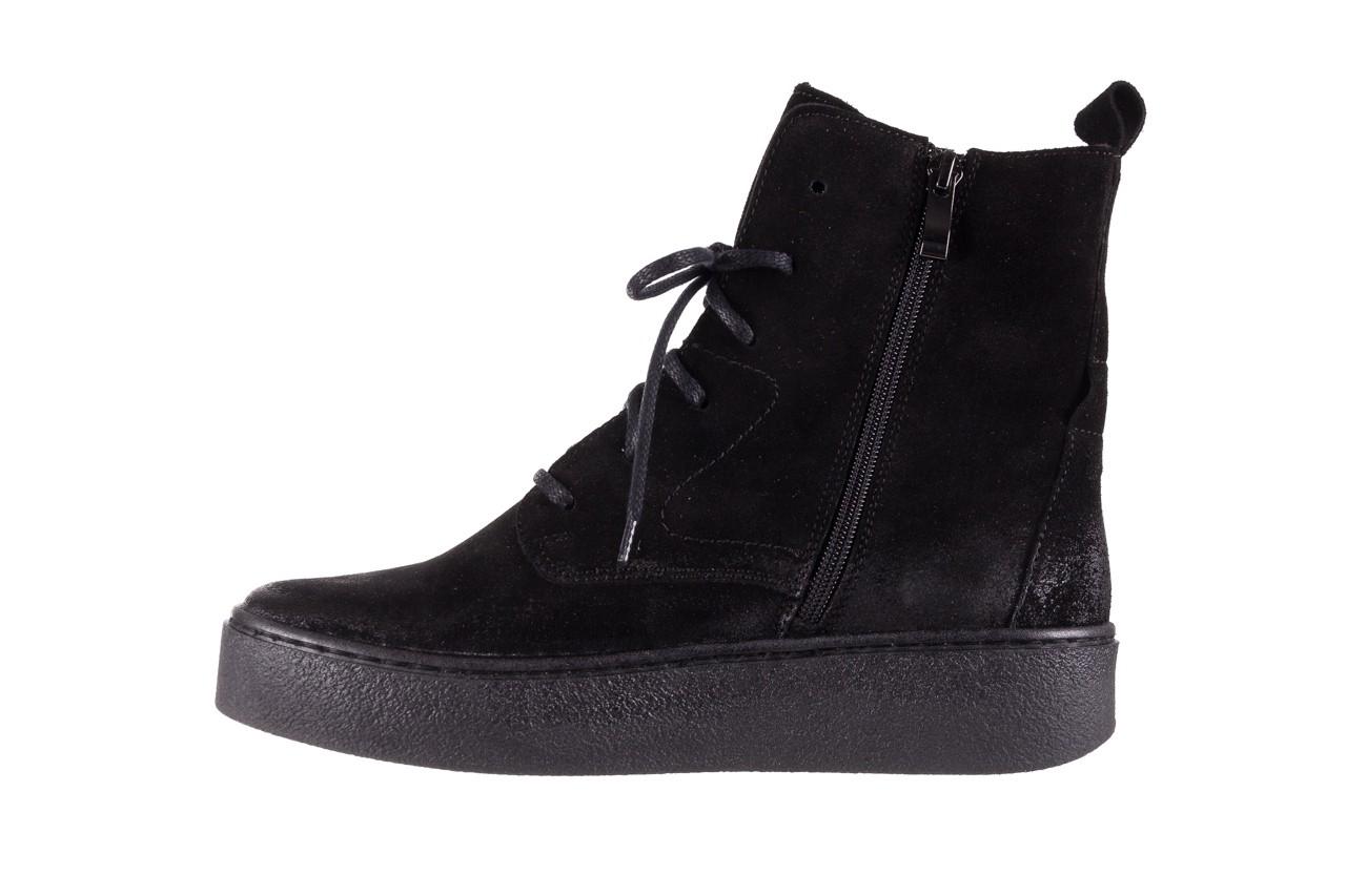 Trzewki bayla-100 1004 czarne sportowe trzewiki, skóra naturalna - trzewiki - buty damskie - kobieta 11