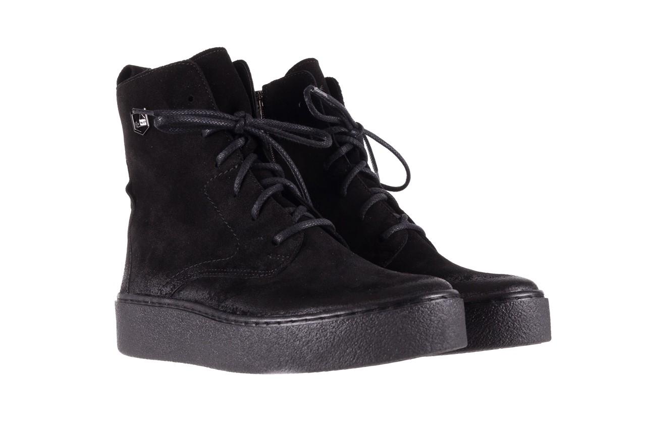 Trzewki bayla-100 1004 czarne sportowe trzewiki, skóra naturalna - trzewiki - buty damskie - kobieta 10