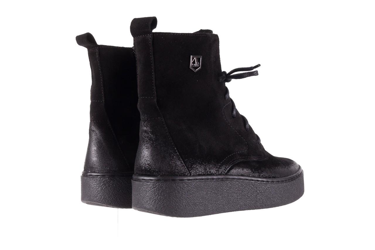 Trzewki bayla-100 1004 czarne sportowe trzewiki, skóra naturalna - trzewiki - buty damskie - kobieta 12