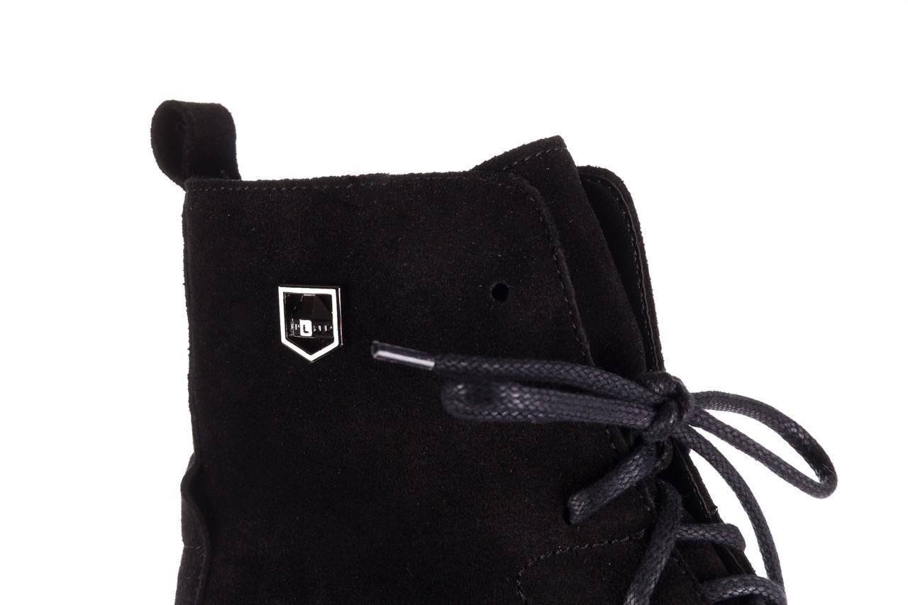 Trzewki bayla-100 1004 czarne sportowe trzewiki, skóra naturalna - trzewiki - buty damskie - kobieta 14