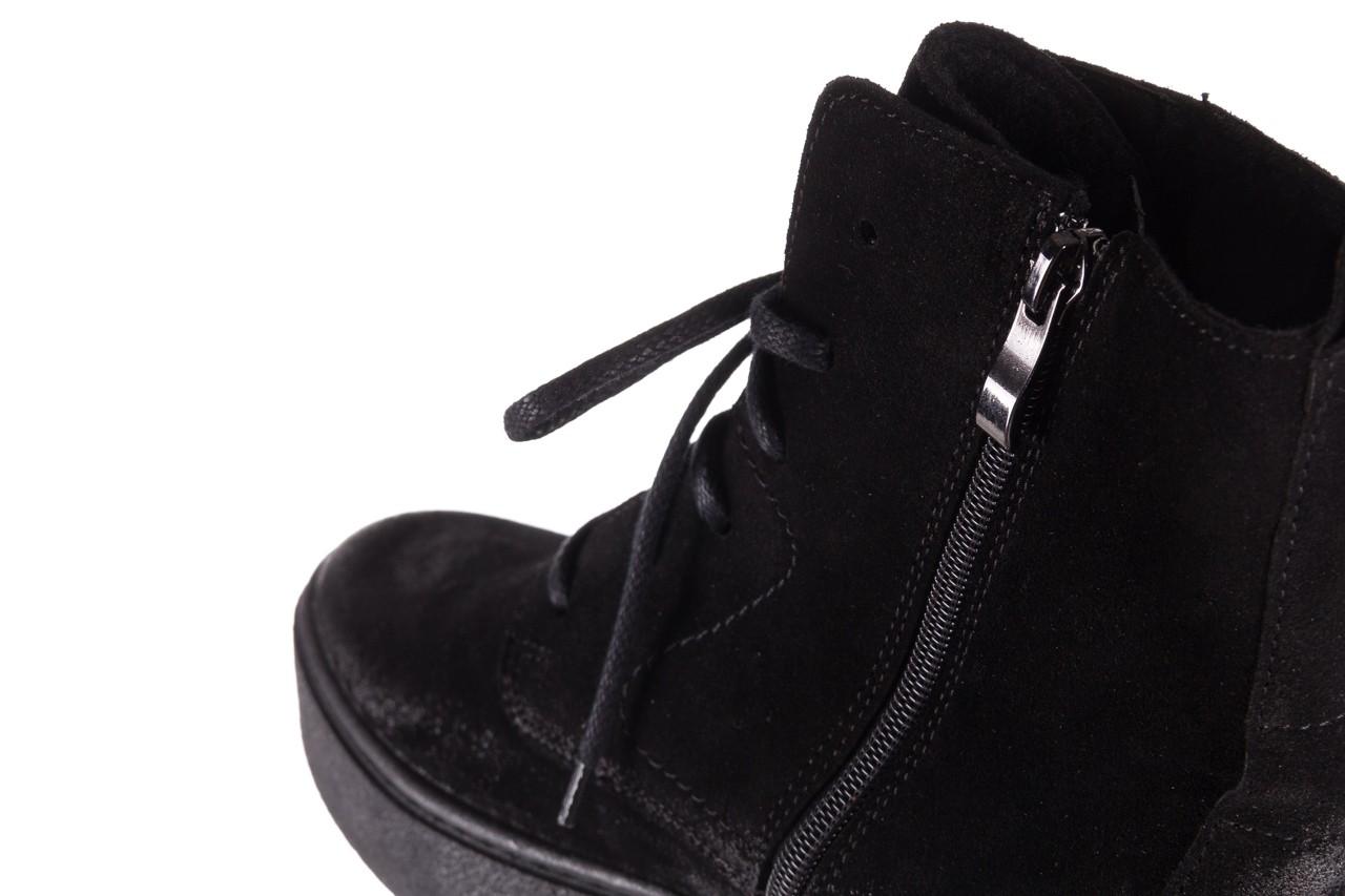 Trzewki bayla-100 1004 czarne sportowe trzewiki, skóra naturalna - trzewiki - buty damskie - kobieta 16