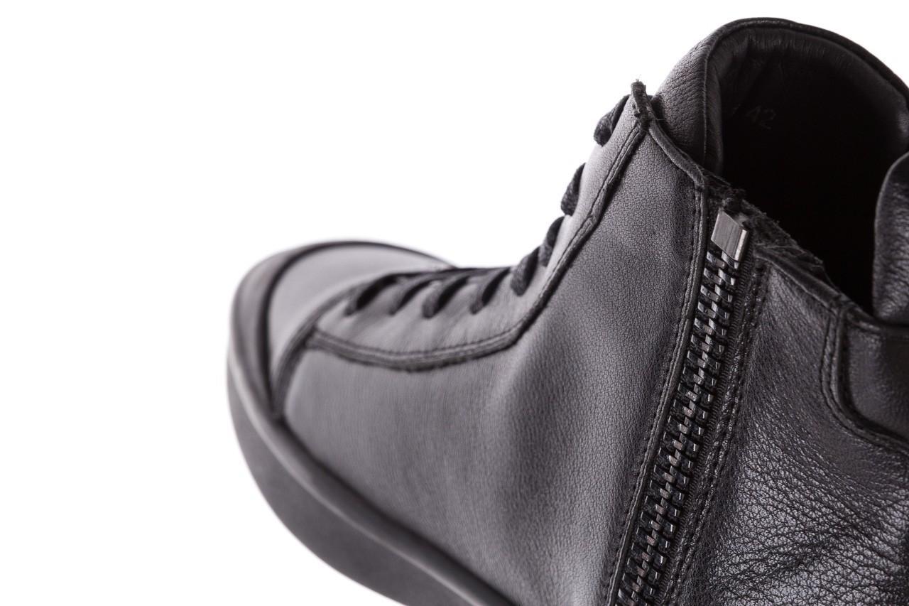 Sneakersy john doubare m5761-1 black, czarny , skóra naturalna  - trendy - mężczyzna 22