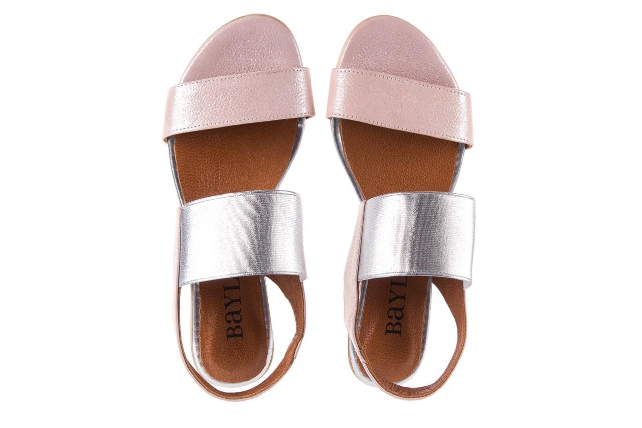 Sandały bayla-112 0410-120 powder satin, róż, skóra naturalna  - bayla - nasze marki 11