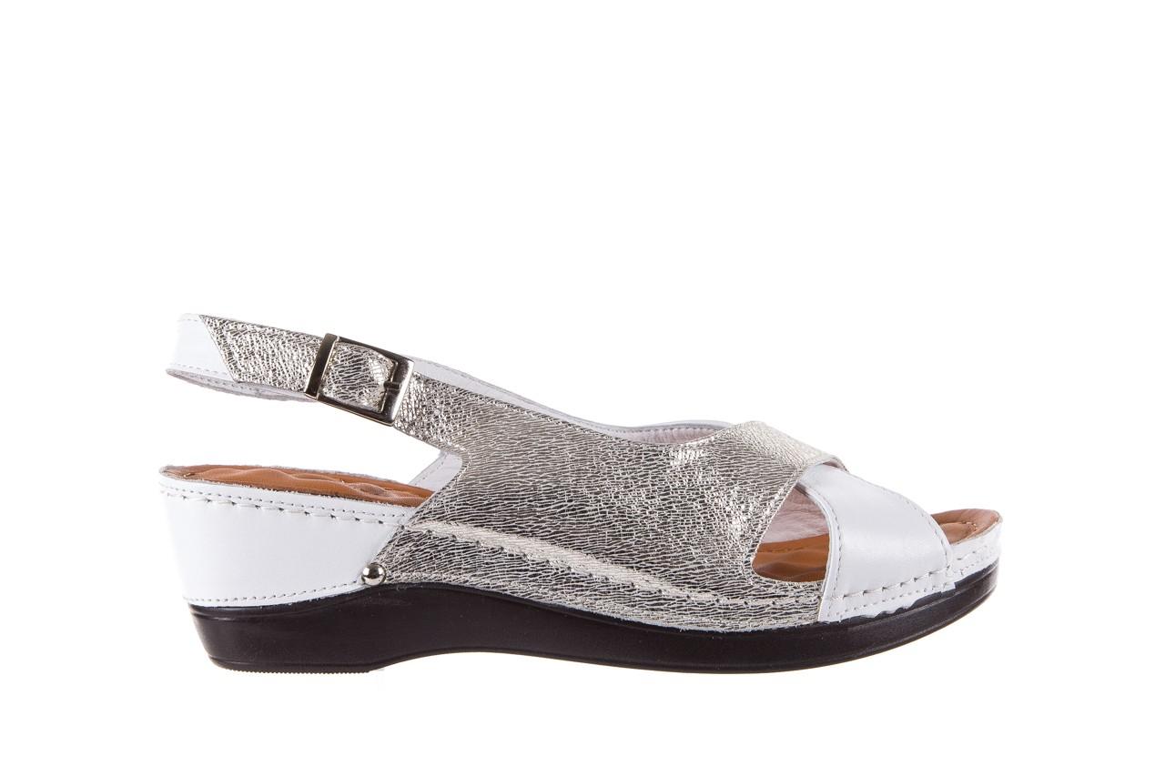 Sandały bayla-112 0158-58 white platinium, biały/srebrny, skóra naturalna  - bayla - nasze marki 7