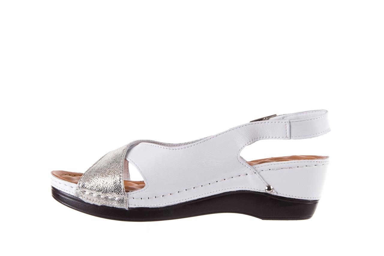 Sandały bayla-112 0158-58 white platinium, biały/srebrny, skóra naturalna  - bayla - nasze marki 9