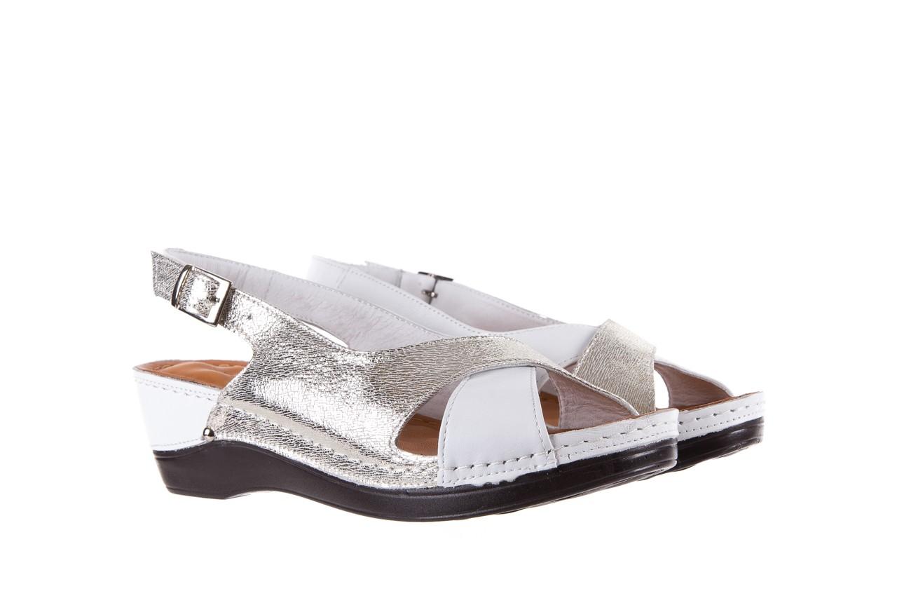 Sandały bayla-112 0158-58 white platinium, biały/srebrny, skóra naturalna  - bayla - nasze marki 8