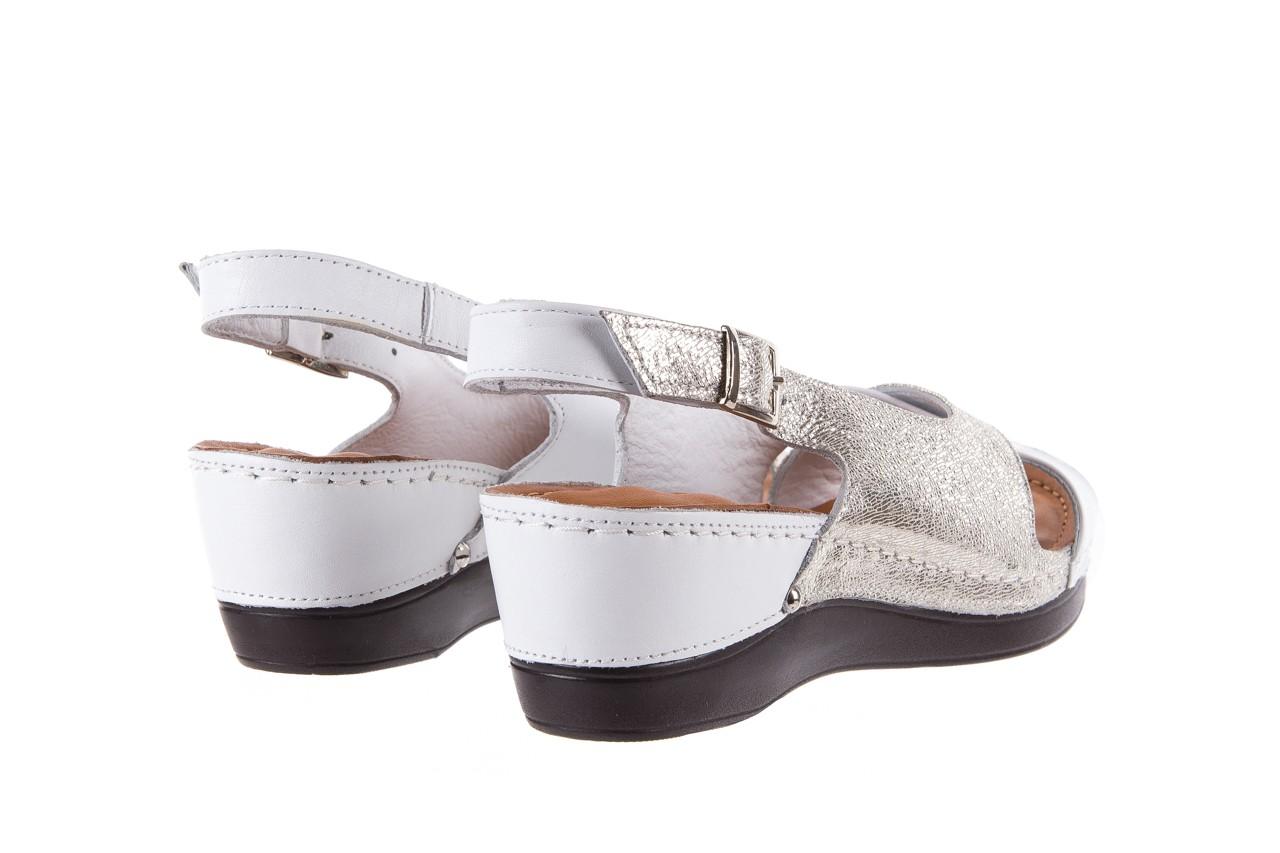 Sandały bayla-112 0158-58 white platinium, biały/srebrny, skóra naturalna  - bayla - nasze marki 10