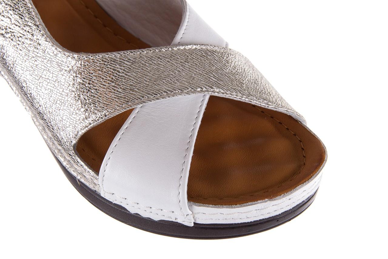 Sandały bayla-112 0158-58 white platinium, biały/srebrny, skóra naturalna  - bayla - nasze marki 13