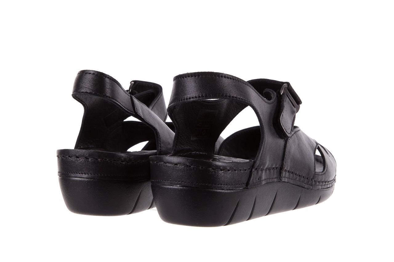 Sandały bayla-112 0348-3002 black, czarny, skóra naturalna  - sandały - letnie hity cenowe 11
