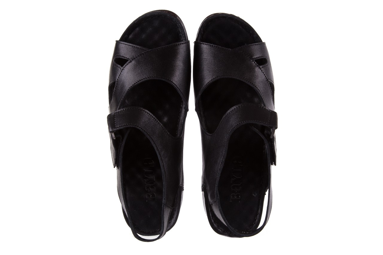 Sandały bayla-112 0348-3002 black, czarny, skóra naturalna  - sandały - letnie hity cenowe 12