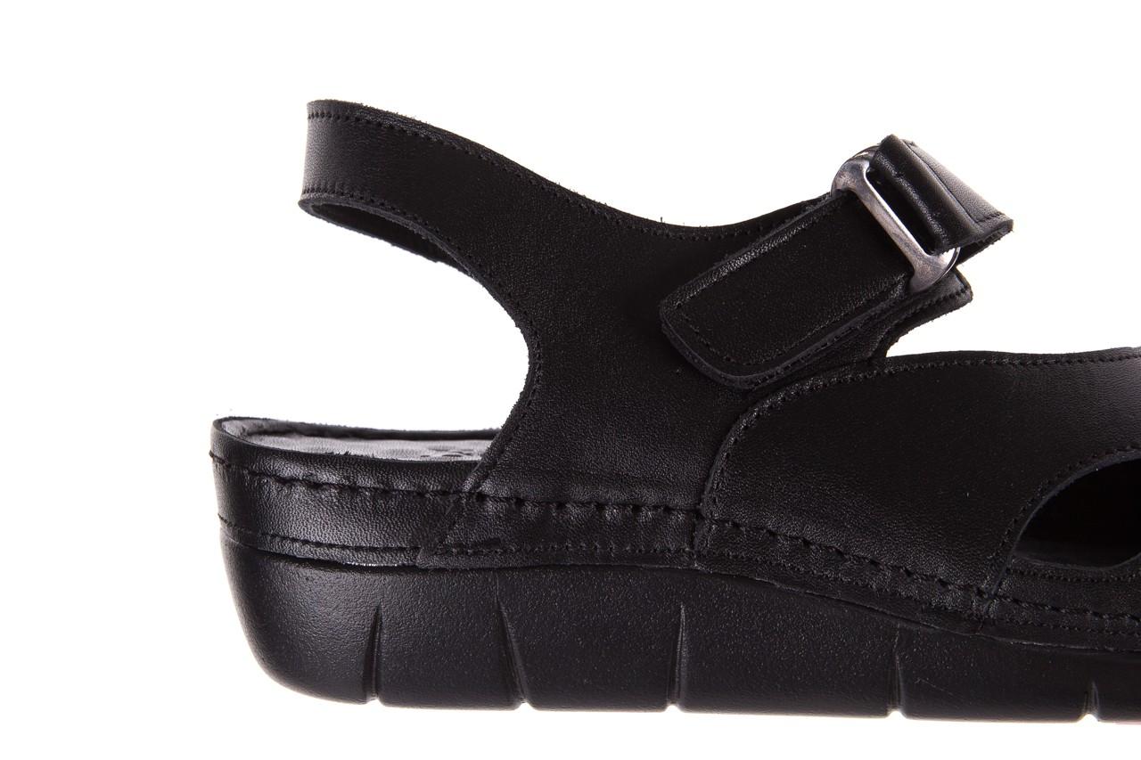 Sandały bayla-112 0348-3002 black, czarny, skóra naturalna  - sandały - letnie hity cenowe 13