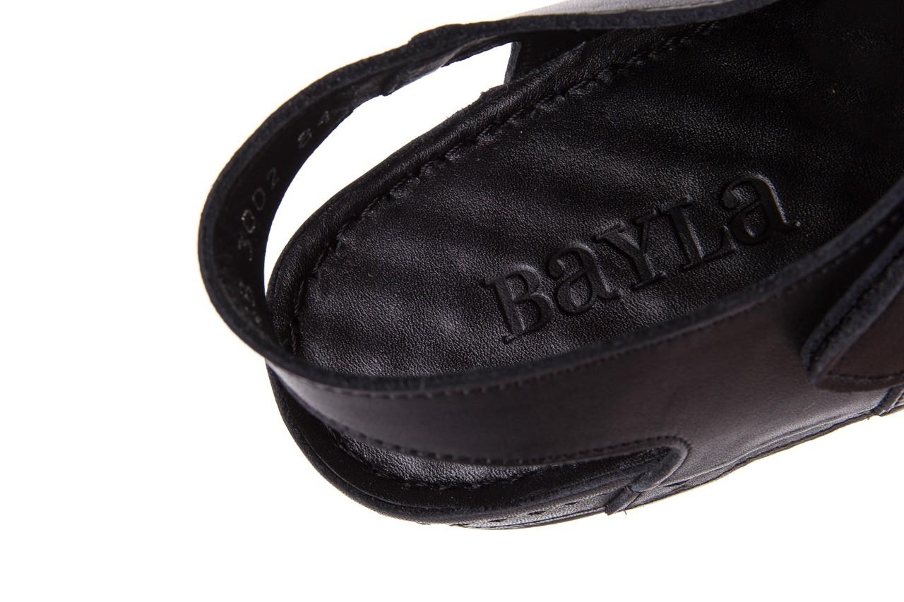 Sandały bayla-112 0348-3002 black, czarny, skóra naturalna  - sandały - letnie hity cenowe 15