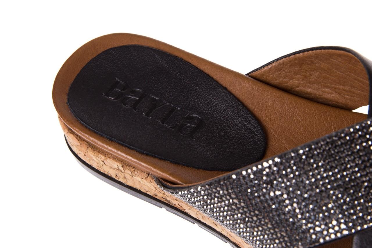 Klapki bayla-112 0396-204 black, czarny, skóra naturalna  - bayla - nasze marki 13