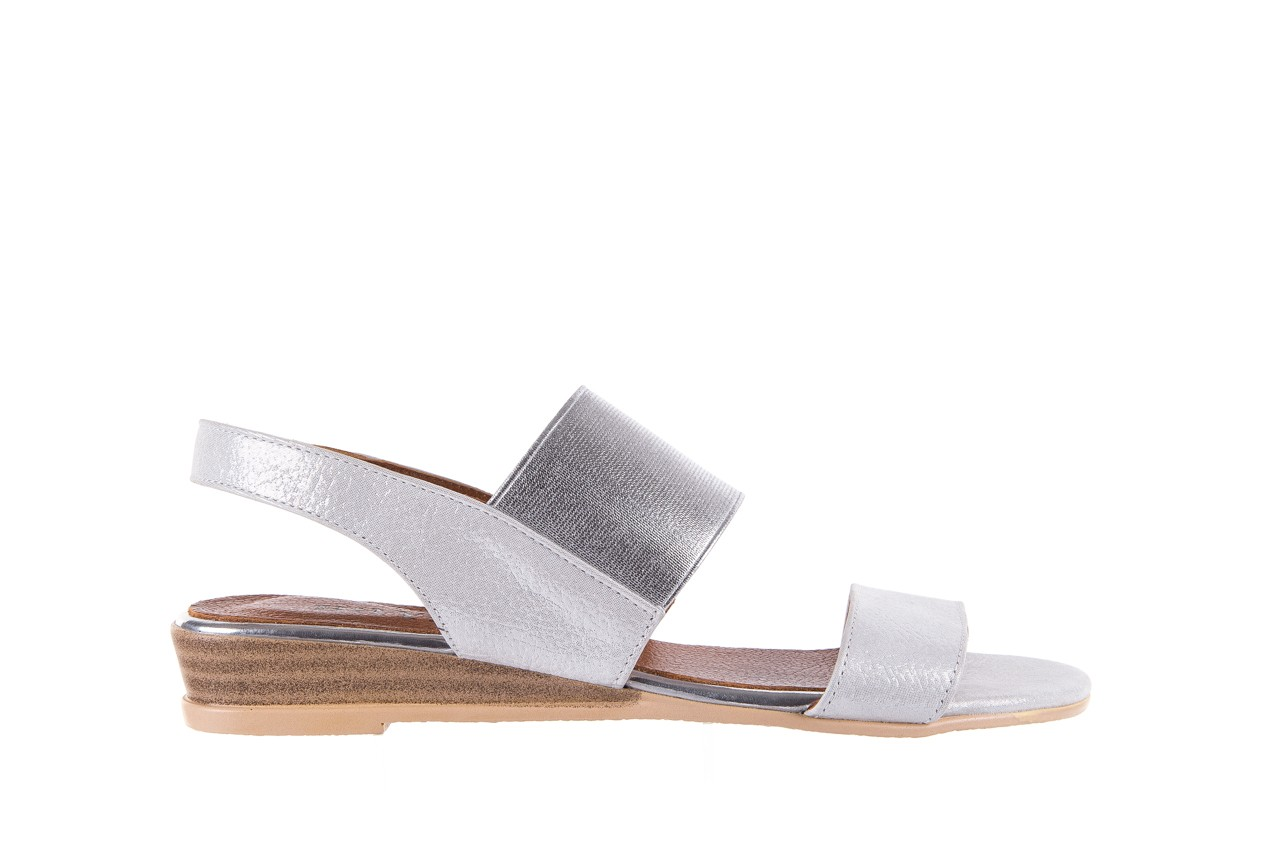 Sandały bayla-112 0410-120 white satin, biały, skóra naturalna  - koturny - buty damskie - kobieta 7