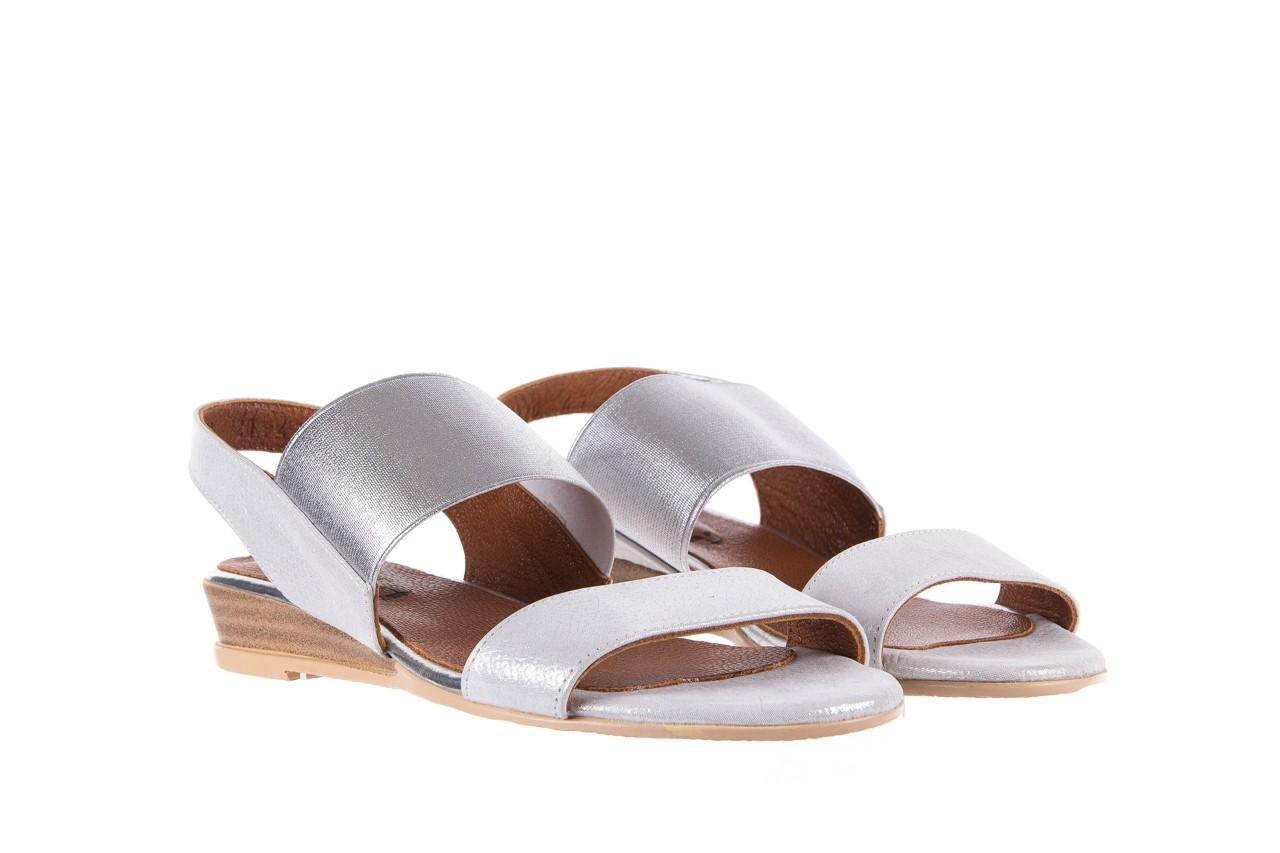 Sandały bayla-112 0410-120 white satin, biały, skóra naturalna  - koturny - buty damskie - kobieta 8