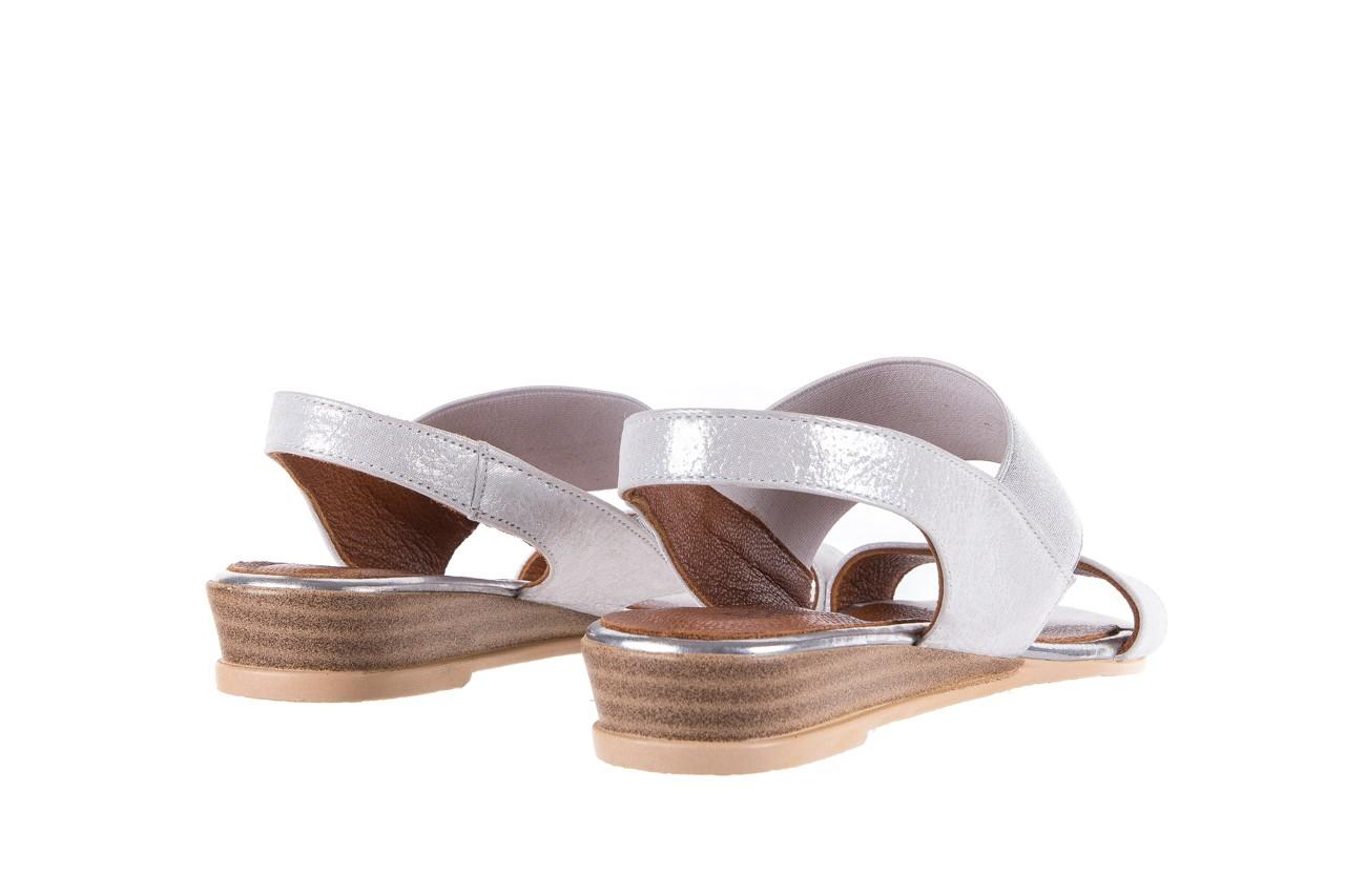 Sandały bayla-112 0410-120 white satin, biały, skóra naturalna  - koturny - buty damskie - kobieta 10
