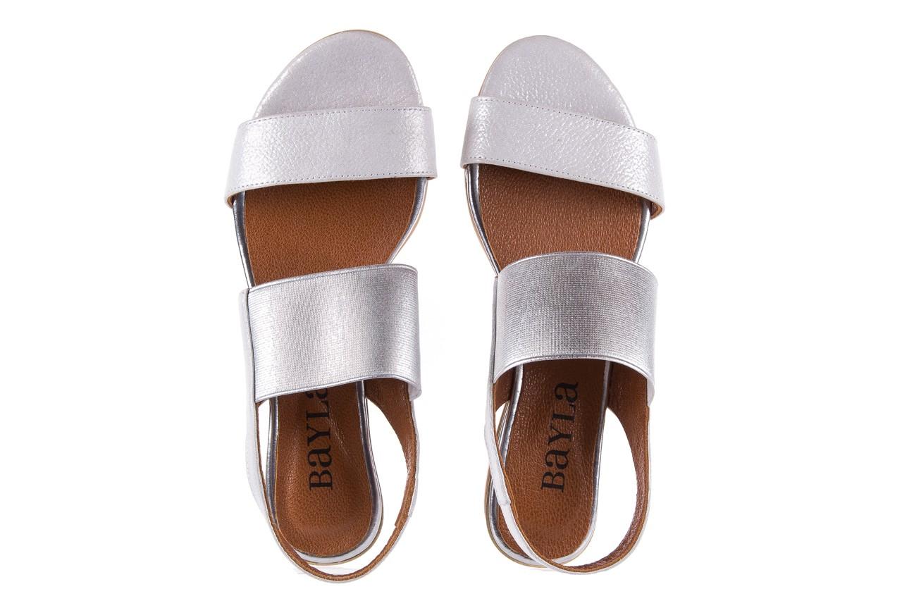 Sandały bayla-112 0410-120 white satin, biały, skóra naturalna  - koturny - buty damskie - kobieta 11