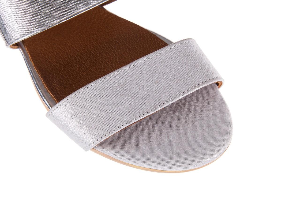 Sandały bayla-112 0410-120 white satin, biały, skóra naturalna  - koturny - buty damskie - kobieta 12