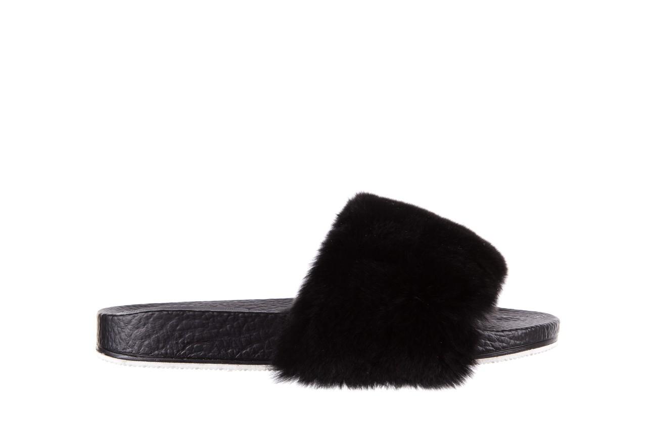 Klapki bayla-112 0479-17194 black furry, czarny, skóra naturalna  - piankowe - klapki - buty damskie - kobieta 6