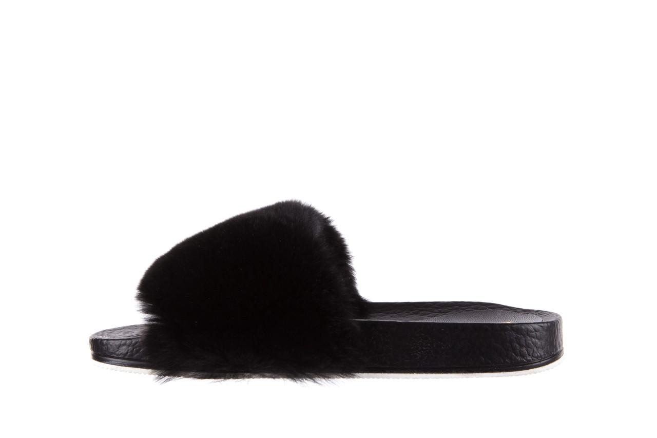 Klapki bayla-112 0479-17194 black furry, czarny, skóra naturalna  - piankowe - klapki - buty damskie - kobieta 8