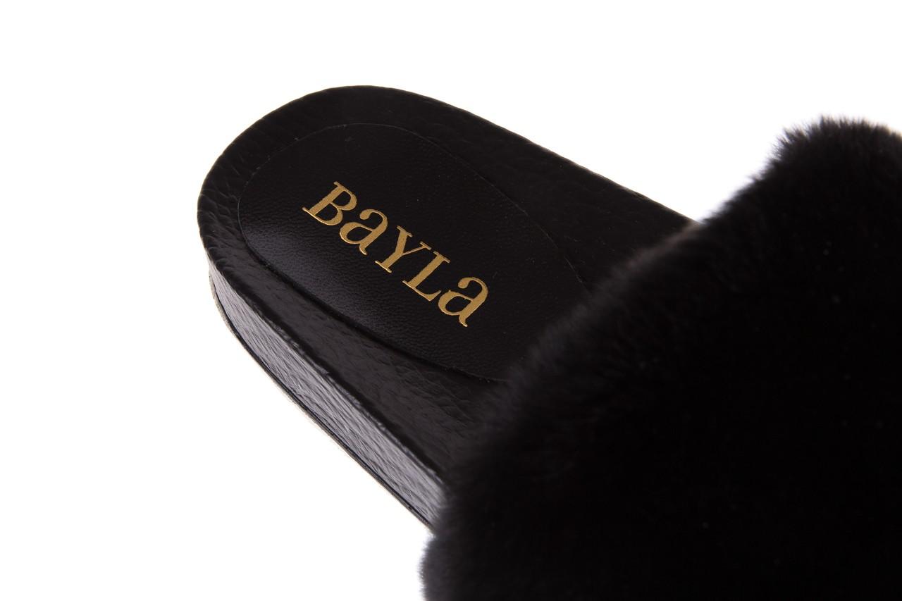 Klapki bayla-112 0479-17194 black furry, czarny, skóra naturalna  - bayla - nasze marki 11