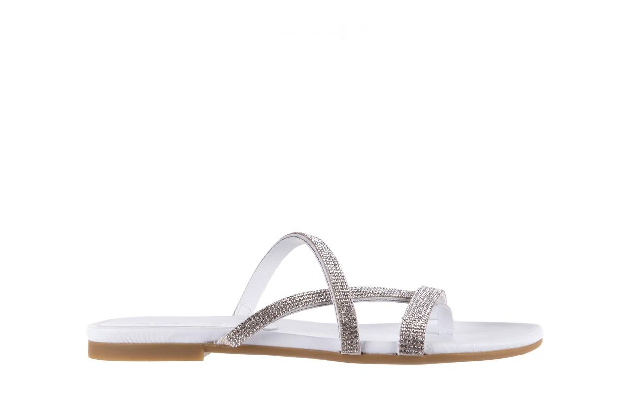 Klapki bayla-112 0396-304 white, biały, skóra naturalna 7