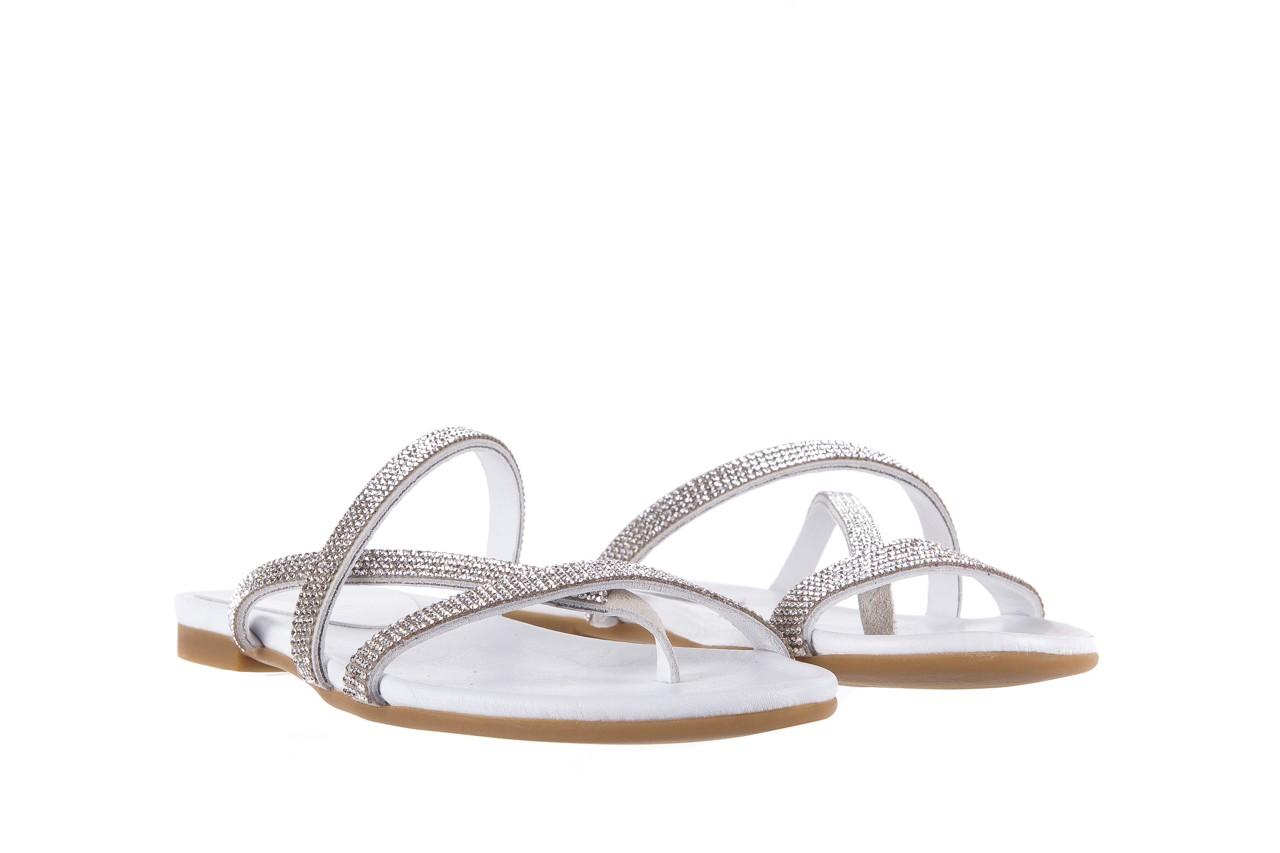 Klapki bayla-112 0396-304 white, biały, skóra naturalna 8