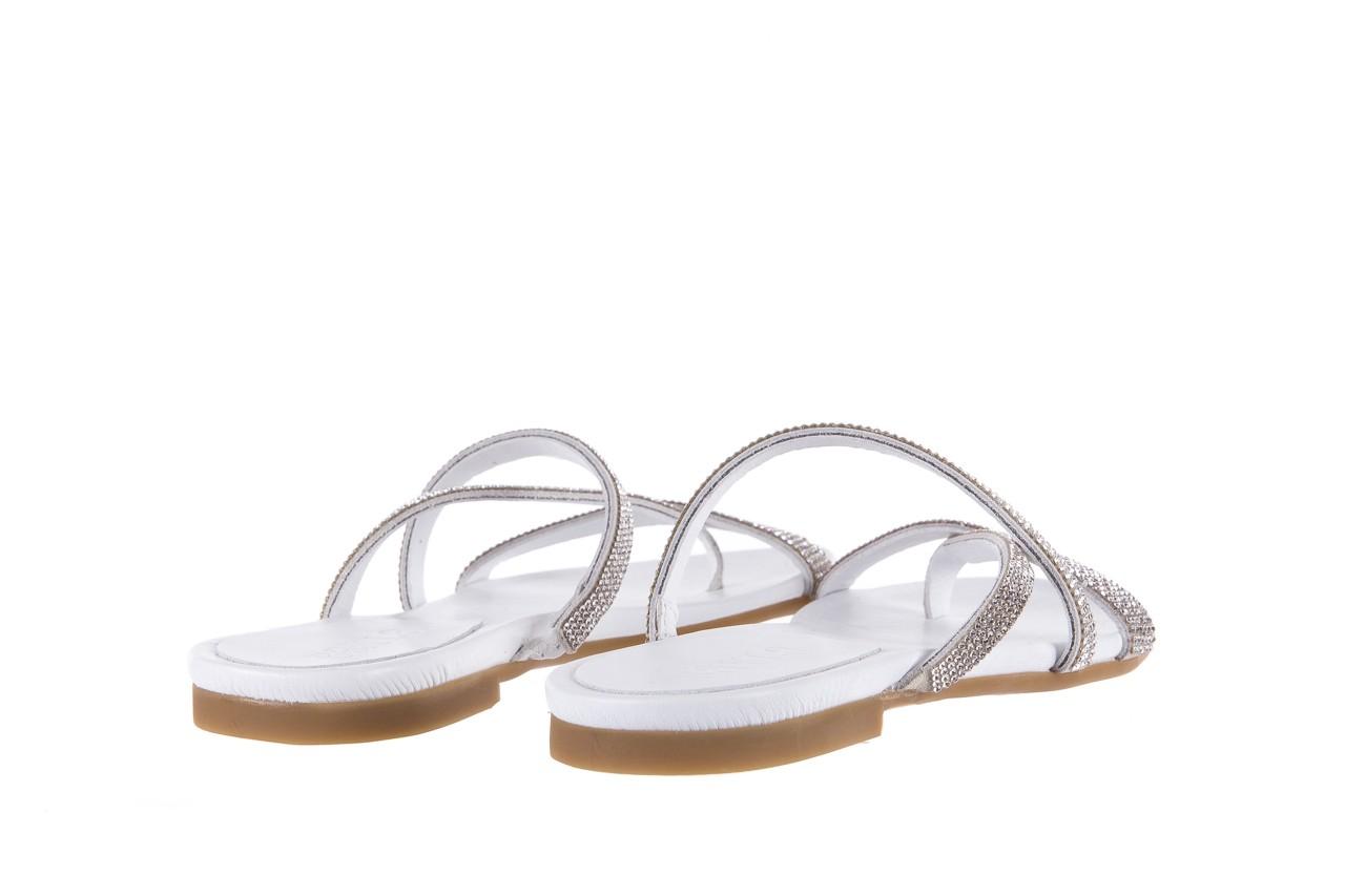 Klapki bayla-112 0396-304 white, biały, skóra naturalna 10