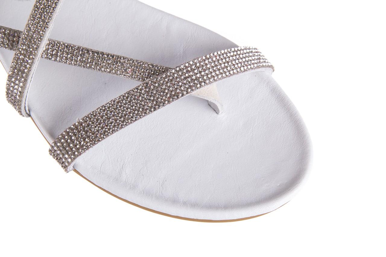 Klapki bayla-112 0396-304 white, biały, skóra naturalna 12