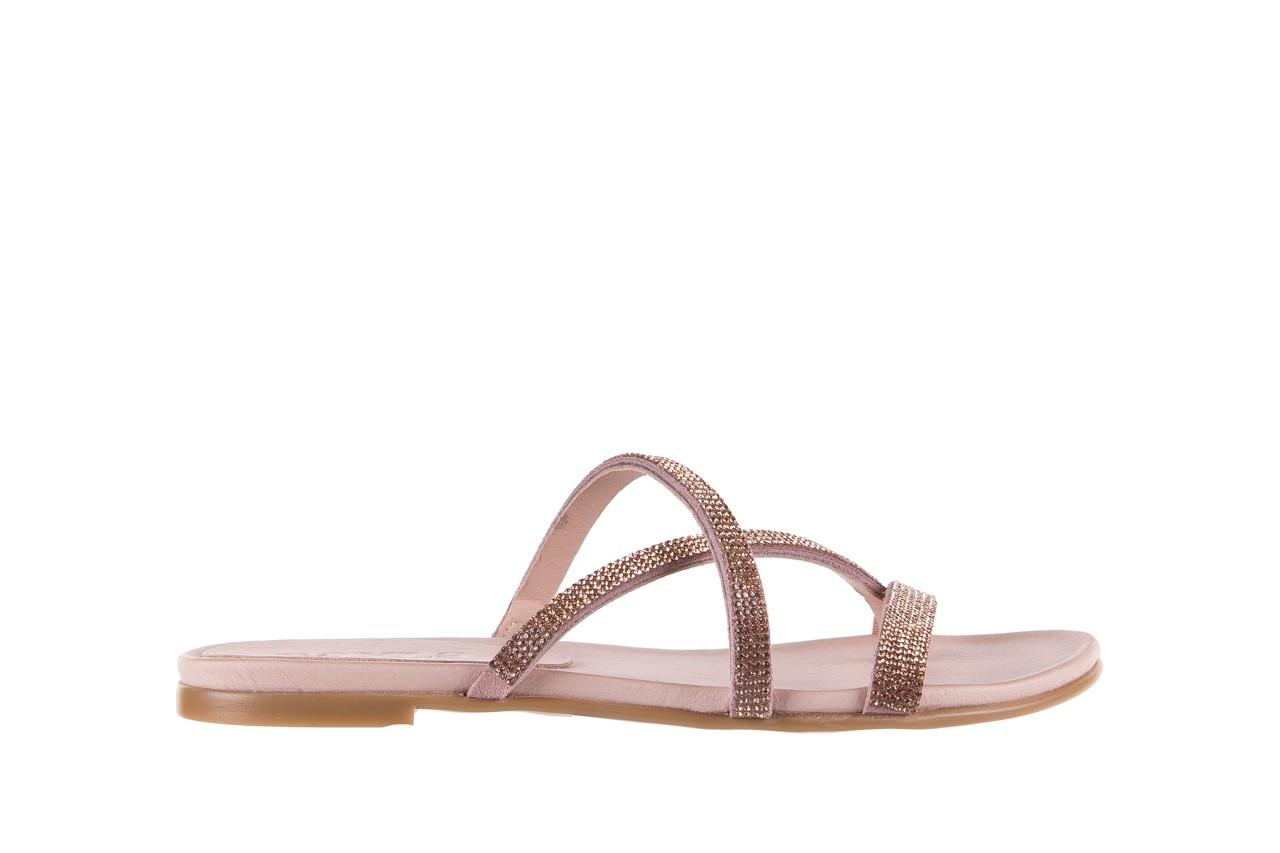 Klapki bayla-112 0396-304 powder, róż, skóra naturalna  - japonki - klapki - buty damskie - kobieta 7