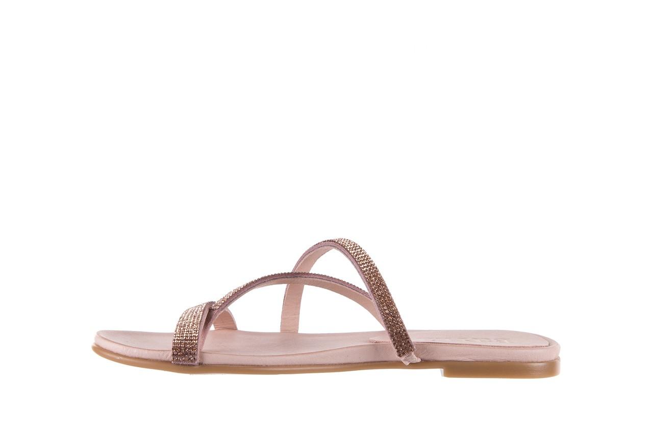 Klapki bayla-112 0396-304 powder, róż, skóra naturalna  - japonki - klapki - buty damskie - kobieta 9