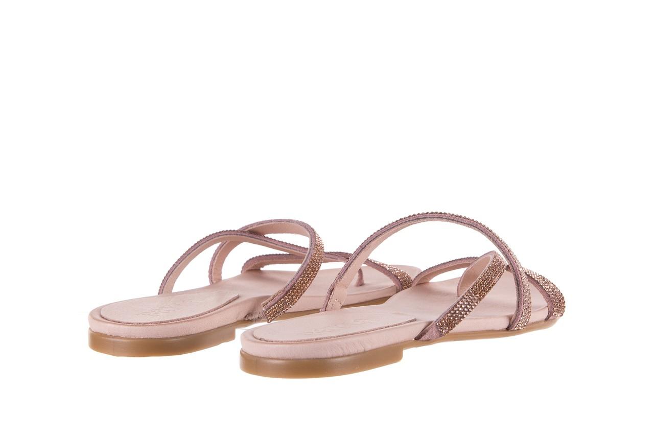 Klapki bayla-112 0396-304 powder, róż, skóra naturalna  - japonki - klapki - buty damskie - kobieta 10