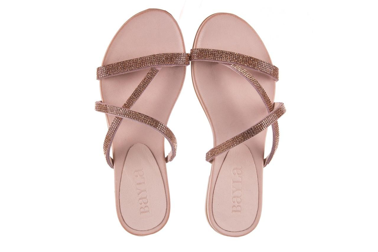 Klapki bayla-112 0396-304 powder, róż, skóra naturalna  - japonki - klapki - buty damskie - kobieta 11