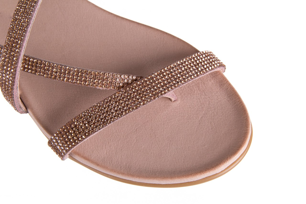 Klapki bayla-112 0396-304 powder, róż, skóra naturalna  - japonki - klapki - buty damskie - kobieta 12