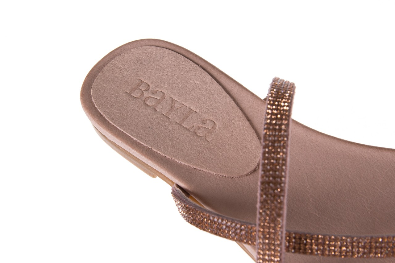 Klapki bayla-112 0396-304 powder, róż, skóra naturalna  - japonki - klapki - buty damskie - kobieta 13