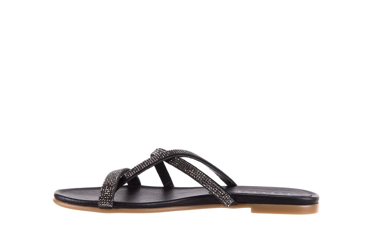 Klapki bayla-112 0396-304 black, czarny, skóra naturalna 9