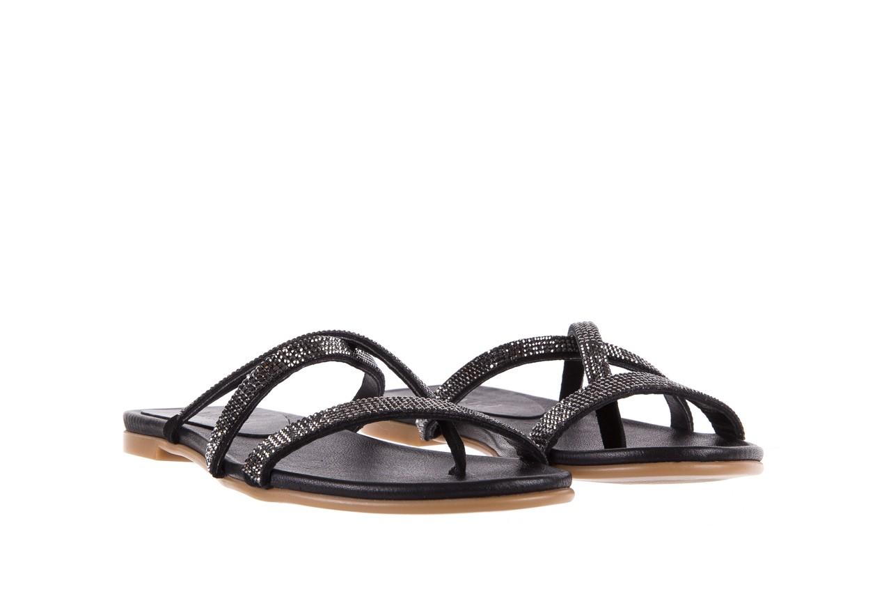 Klapki bayla-112 0396-304 black, czarny, skóra naturalna 8