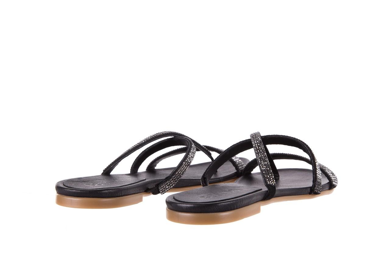 Klapki bayla-112 0396-304 black, czarny, skóra naturalna 10