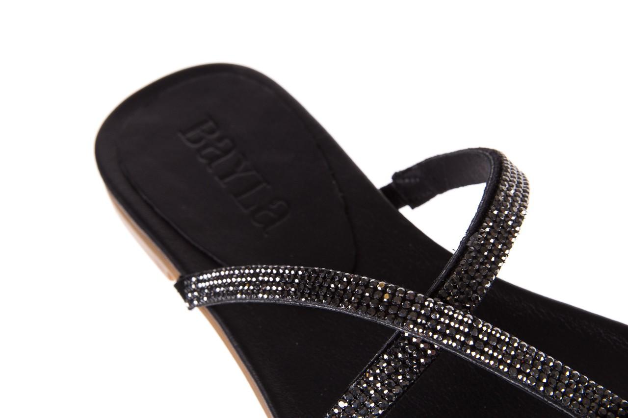 Klapki bayla-112 0396-304 black, czarny, skóra naturalna 13