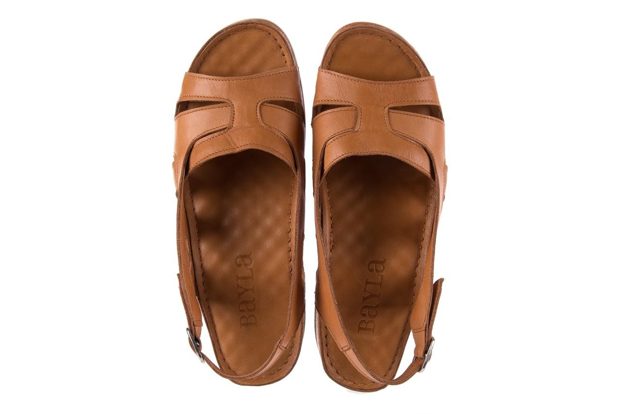 Sandały bayla-112 0348-3003 tan, brąz, skóra naturalna  - bayla - nasze marki 12