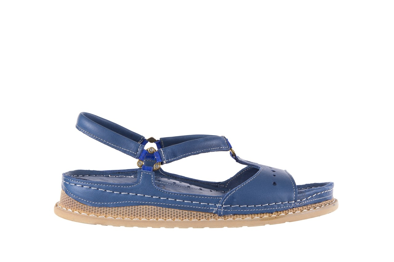 Sandały bayla-112 0089-114-8433 denim, niebieski, skóra naturalna  - bayla - nasze marki 7