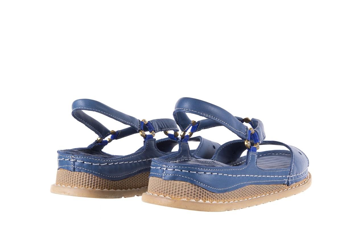 Sandały bayla-112 0089-114-8433 denim, niebieski, skóra naturalna  - bayla - nasze marki 10