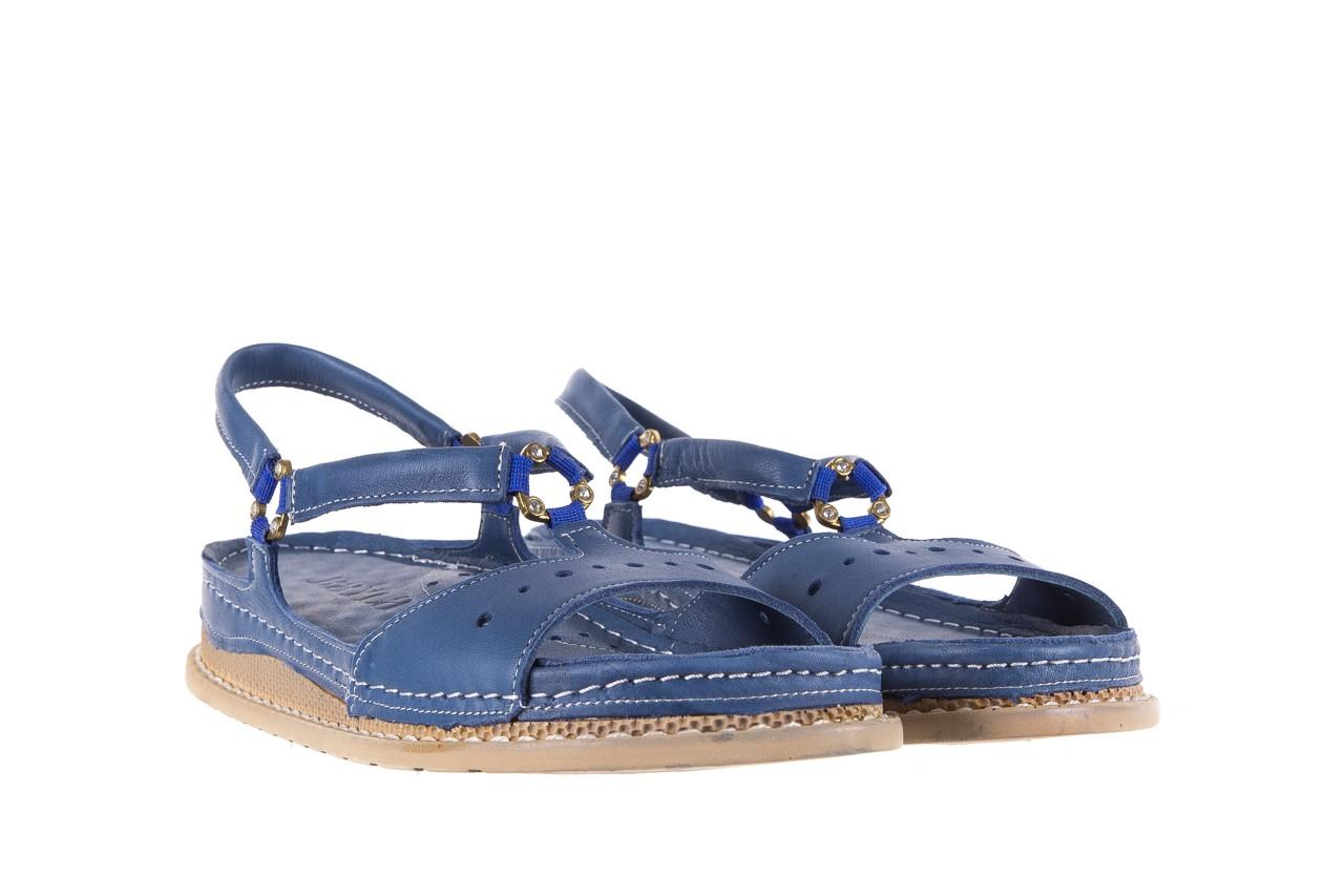 Sandały bayla-112 0089-114-8433 denim, niebieski, skóra naturalna  - bayla - nasze marki 8