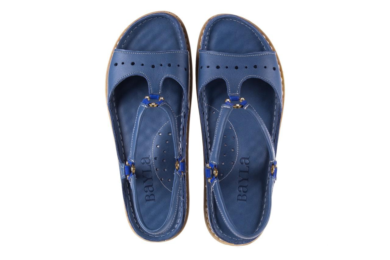Sandały bayla-112 0089-114-8433 denim, niebieski, skóra naturalna  - bayla - nasze marki 11