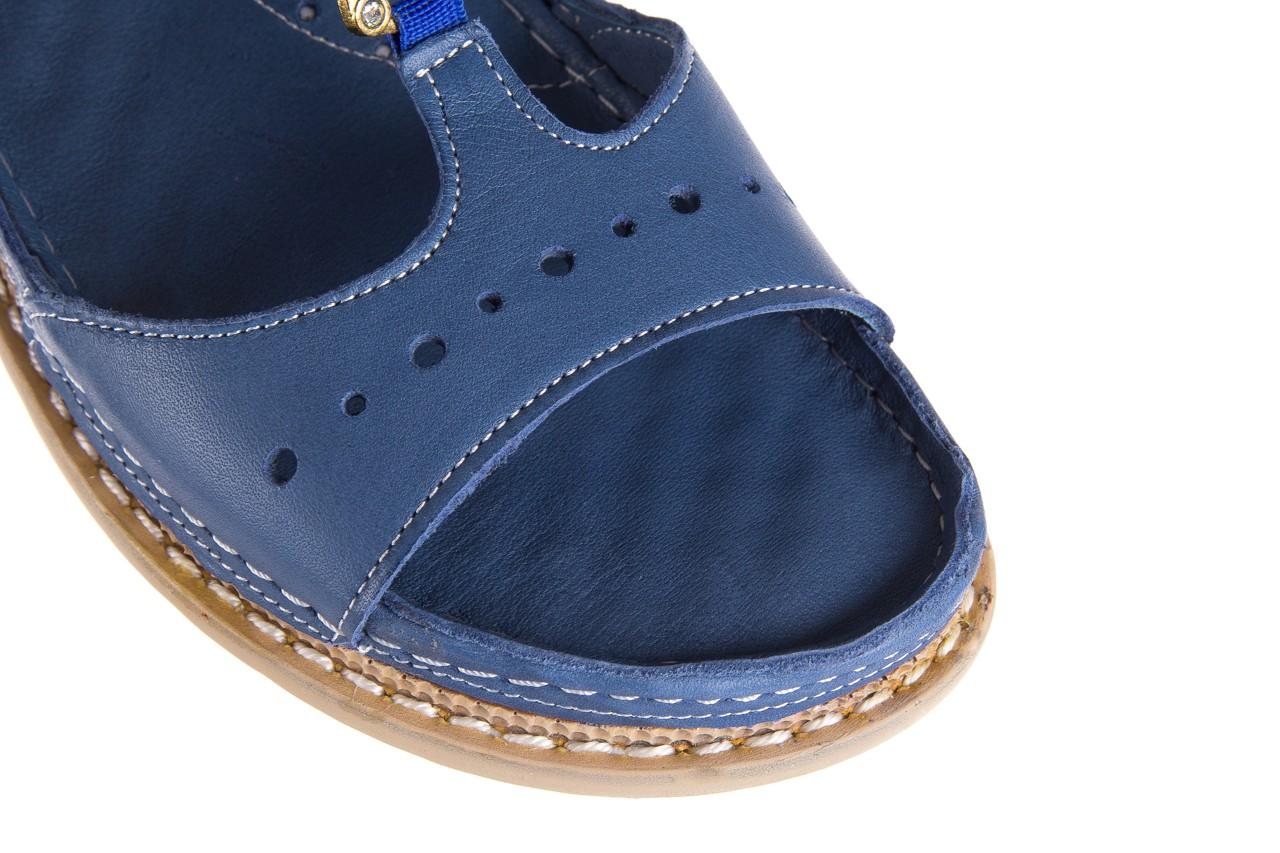 Sandały bayla-112 0089-114-8433 denim, niebieski, skóra naturalna  - bayla - nasze marki 13
