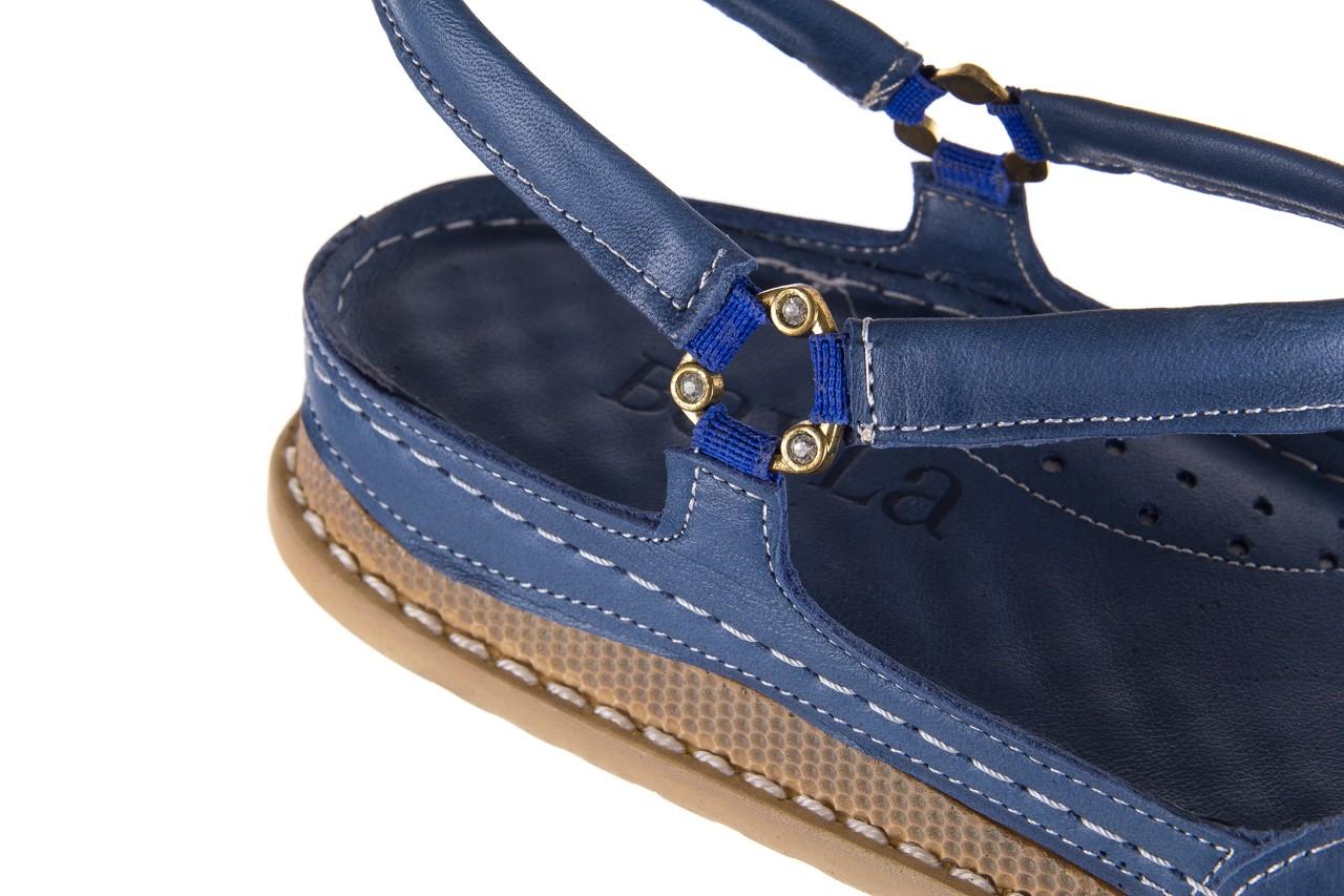Sandały bayla-112 0089-114-8433 denim, niebieski, skóra naturalna  - bayla - nasze marki 12