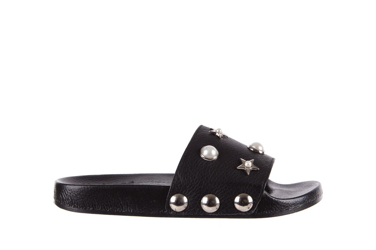 Klapki bayla-112 0550-096 black, czarny, skóra naturalna  - piankowe - klapki - buty damskie - kobieta 7
