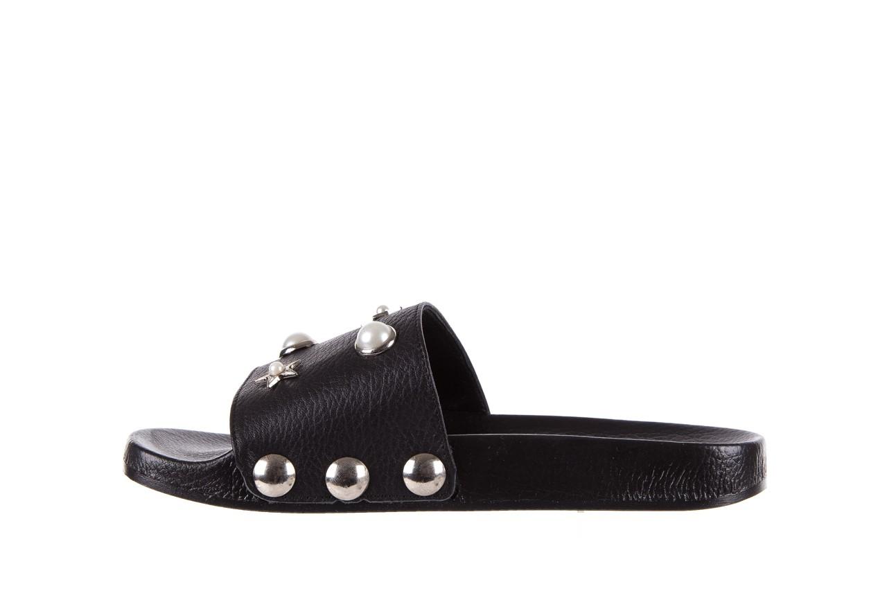 Klapki bayla-112 0550-096 black, czarny, skóra naturalna  - piankowe - klapki - buty damskie - kobieta 9