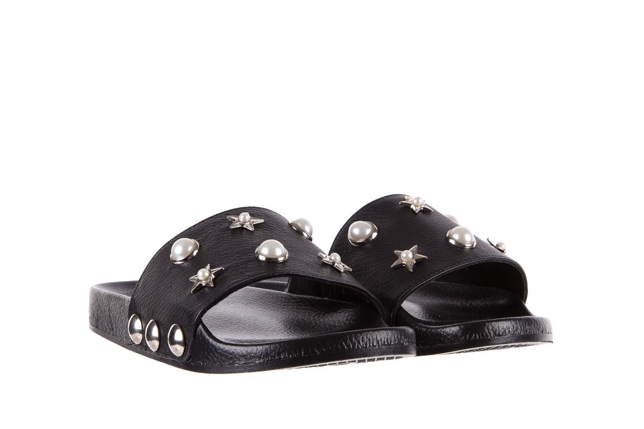 Klapki bayla-112 0550-096 black, czarny, skóra naturalna  - piankowe - klapki - buty damskie - kobieta 8