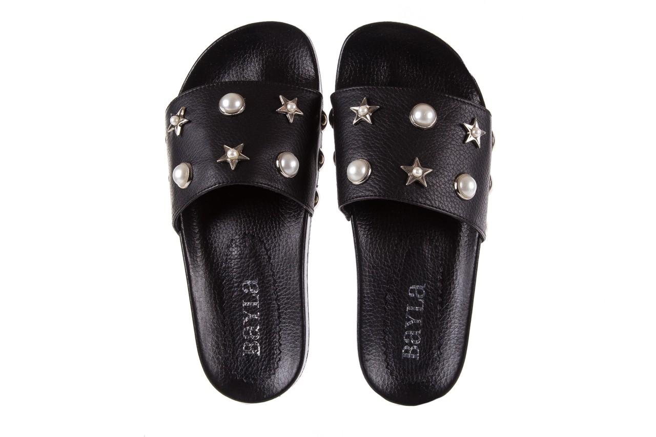 Klapki bayla-112 0550-096 black, czarny, skóra naturalna  - piankowe - klapki - buty damskie - kobieta 11
